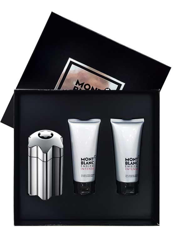 Emblem Intense Gift Set for Men (edT 100ml + After Shave Balm + All-Over Shower Gel) by Mont Blanc