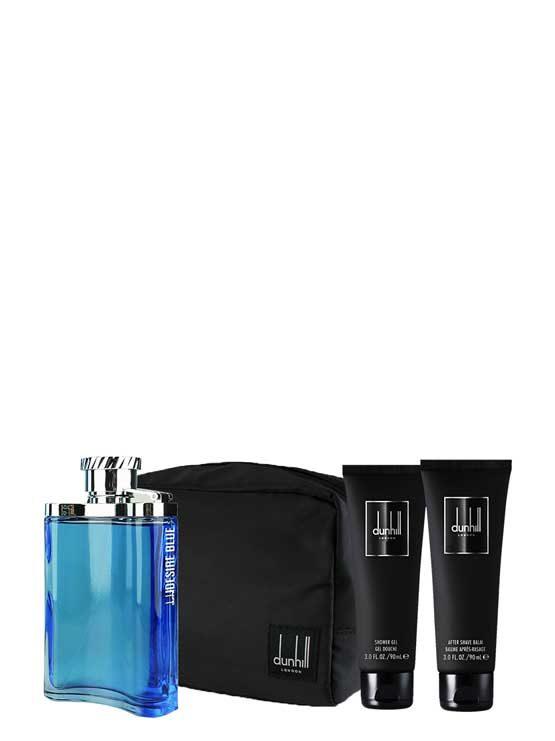 Desire Blue Gift Set for Men (edT 100ml + Shower Gel + After Shave Balm + Bag) by Dunhill