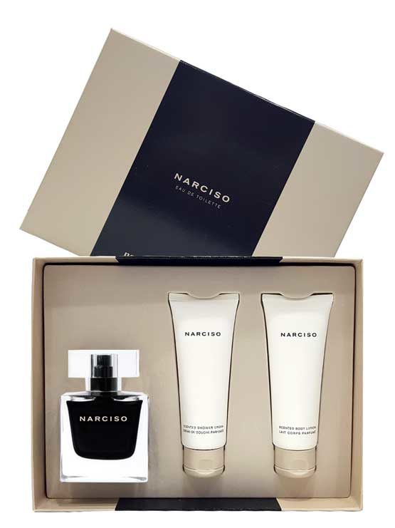 Narciso Gift Set for Women (edT 90ml + Scented Shower Cream + Scented Body Lotion) by Narciso Rodriguez