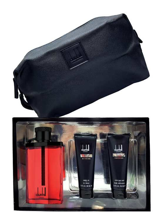 Desire Red Extreme Gift Set for Men (edT 100ml + Shower Gel + After Shave Balm + Toiletry Bag) by Dunhill