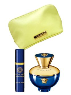 Dylan Blue Gift Set for Women (edP 100ml + edP Spray Sac 10ml + Yellow Pouch) by Versace