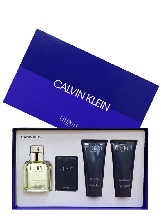 Eternity Gift Set for Men (edT 100ml + After Shave Balm + Hair and Body Wash + edT 20ml) by Calvin Klein