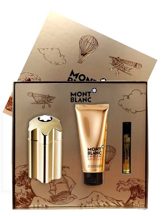 Emblem Absolu Gift Set for Men (edT 100ml + All-Over Shower Gel + edT Travel Spray 7.5ml) by Mont Blanc