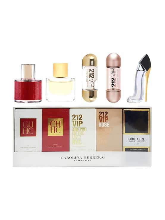 Miniature Collection for Women, set of 5pcs (CH 8ml + CH Prive 5ml + 212 VIP 5ml + 212 VIP ROSE 5ml + Good Girl 7ml) by Carolina Herrera