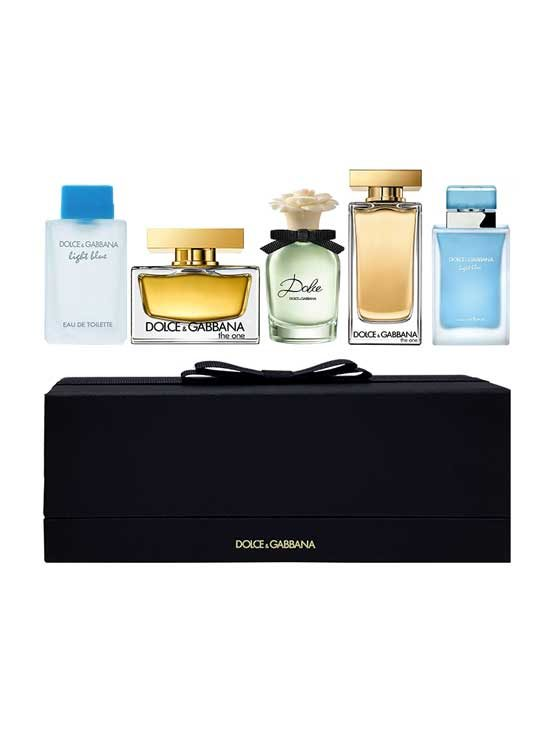 Miniature Collection for Women, set of 5pcs (Light Blue Eau Intense 4.5ml + The One edT 7.5ml + Dolce 5ml + The One edP 5ml + Light Blue 4.5ml) by Dolce and Gabbana