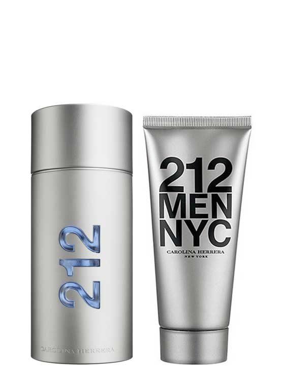 212 MEN NYC Travel Set for Men (edT 100ml + After Shave Gel) by Carolina Herrera