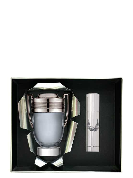 Invictus Gift Set for Men (edT 100ml + Travel Spray edT 10ml) by Paco Rabanne