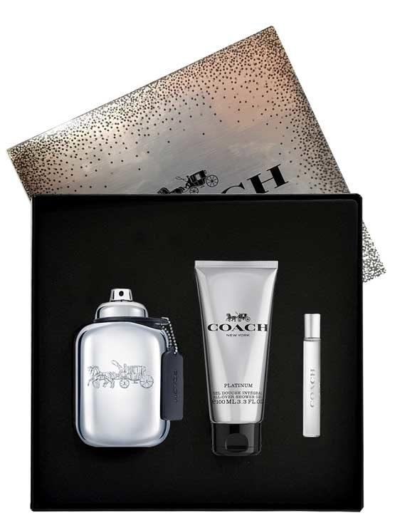 Coach Platinum Gift Set for Men (edP 100ml + edP 7.5ml + All Over Shower Gel) by Coach