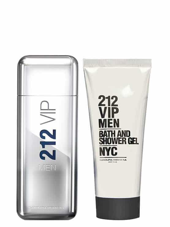 212 VIP MEN Gift Set for Men (edT 100ml + Bath and Shower Gel) by Carolina Herrera