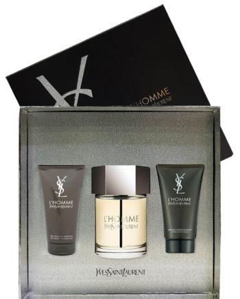 L'Homme Gift Set for Men (edT 100ml + After Shave Balm + All Over Shower Gel) by Yves Saint Laurent