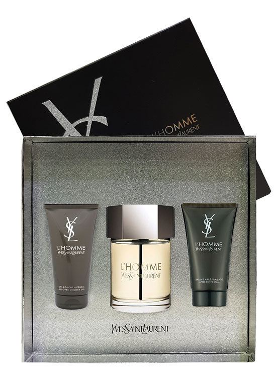 L'Homme Gift Set for Men (edT 100ml + After Shave Balm + All Over Shower Gel) by Yves Saint Laurent