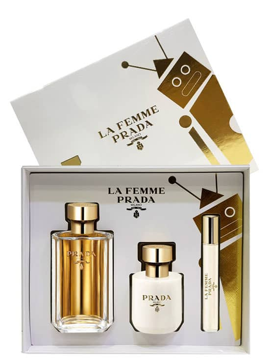 La Femme Gift Set for Women (edP 100ml + Satin Body Lotion + edP Roll On 10ml) by Prada