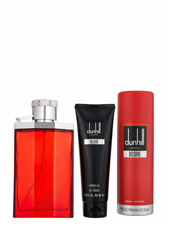 Desire Red Gift Set for Men (edT 100ml + Shower Gel 90ml + Body Spray) by Dunhill