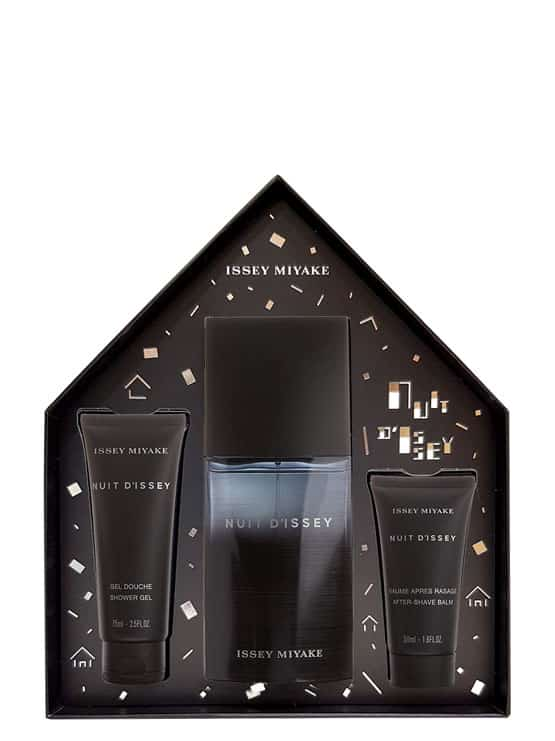 Nuit D'Issey Gift Set for Men (edT 125ml + Shower Gel 75ml + Soothing After-Shave Balm 50ml) by Issey Miyake