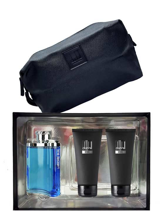 Desire Blue Gift Set for Men (edT 100ml + Shower Gel 90ml + After Shave Balm 90ml + Bag) by Dunhill
