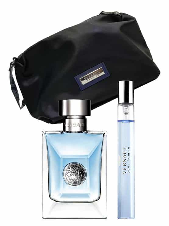 Versace pour Homme Gift Set for Men (edT 100ml + edT 10ml Travel Spray + Trousse) by Versace