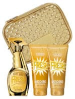 Fresh Couture Gold Gift Set for Women (edT 100ml + 100ml Body Lotion + 100ml Bath & Shower Gel + Golden Trousse) by Moschino