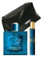 Eros Gift Set for Men (edT 100ml + edT 10ml + Trousse) by Versace
