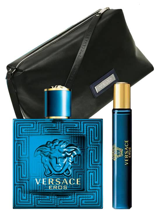 Eros Gift Set for Men (edT 100ml + edT 10ml + Trousse) by Versace