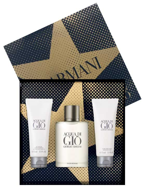 Acqua Di Gio Gift Set for Men (edT 100ml + All Over Body Shampoo 75ml + After Shave Balm 75ml) by Giorgio Armani