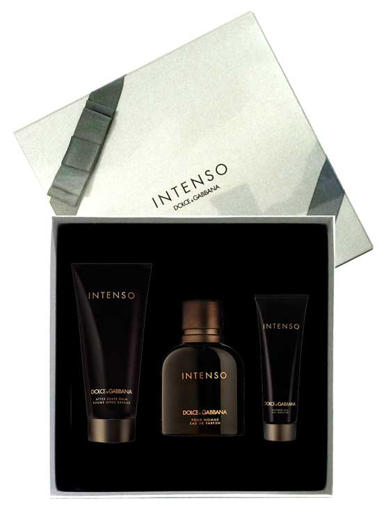 Intenso Gift Set for Men (edP 125ml + After Shave Balm 100ml + Shower Gel 50ml) by Dolce & Gabana