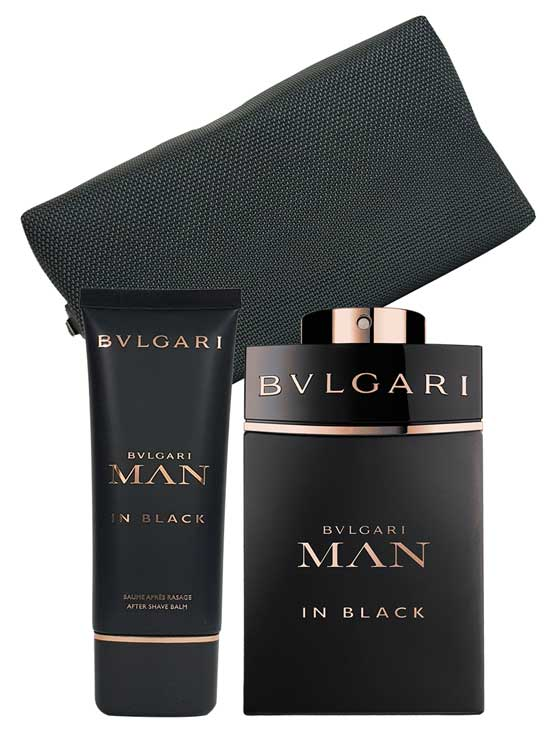 Man In Black Gift Set for Men (edP 100ml + Aftershave Balm 100ml + Pouch) by Bvlgari