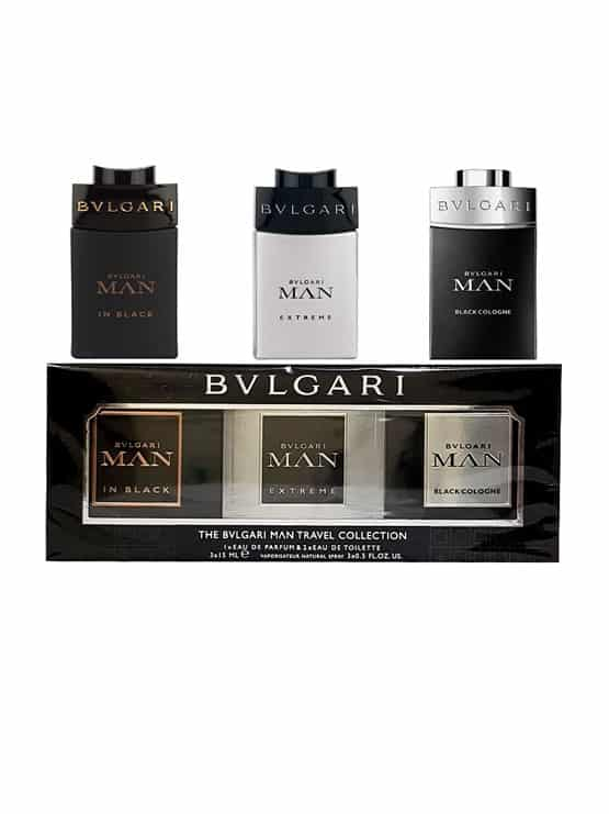 Travel Miniature Collection for Men (Bvlgari Man Extreme 5ml, Bvlgari Man in Black 5ml, Bvlgari Man Black Cologne 5ml) by Bvlgari