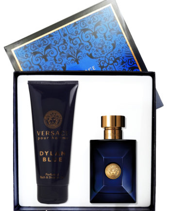 Dylan Blue Gift Set for Men (edT 100ml + Perfumed Bath and Shower Gel 150ml) by Versace