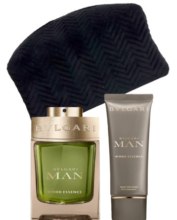 Bvlgari Man Wood Essence Gift Set for Men (edP 100ml + After Shave Balm 100ml + Pouch) by Bvlgari