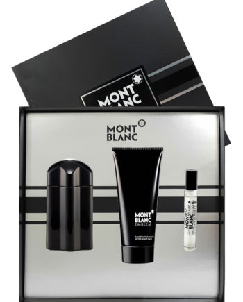 Emblem Gift Set for Men (edT 100ml + After Shave Balm 100ml + edT 7.5ml) by Mont Blanc